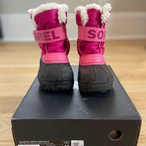 Toddler Sorel Snow Commander Boot Size 10